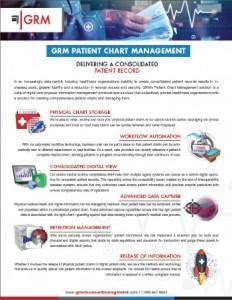 New GRM Patient Chart Management brochure snip