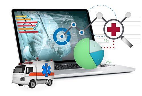 Healthcare data laptop