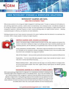 Pathology Storage & Workflow Solution brochure