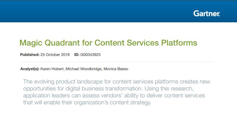 GRM Information Management Recognized in Gartner Magic Quadrant for Content Services Platforms